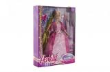 Panenka princezna s dlouhým copem plast 28cm asst 2 barvy v krabici 23x32x7cm