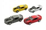 Auto Kinsmart Chevrolet Camaro 1:38 12cm kov asst 4 barvy na zpětné natažení 12ks v boxu