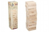 Hra Jenga věž maxi dřevo 60ks dřevěných dílků hlavolam v krabici 13x51x13cm