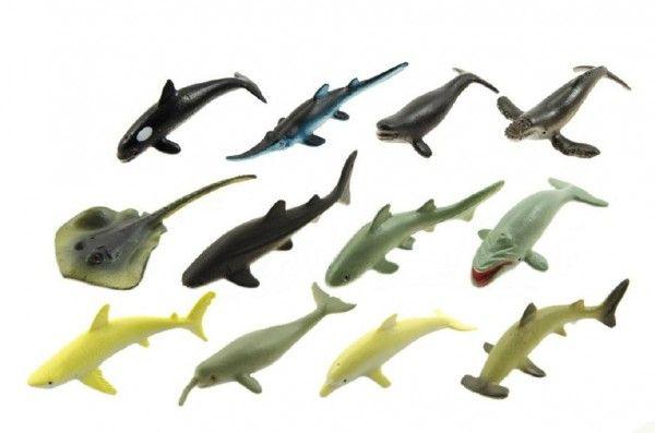 Zvířátka mořská plast 6cm asst mix druhů v boxu Teddies