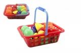 Ovoce v nákupním košíku plast 12ks v síťce