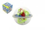 Hlavolam edukační koule 100 kroků plast 12cm v krabičce 12x12x12cm CZ design
