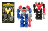 Robot bojovník plast 14cm asst 3 druhy na kartě