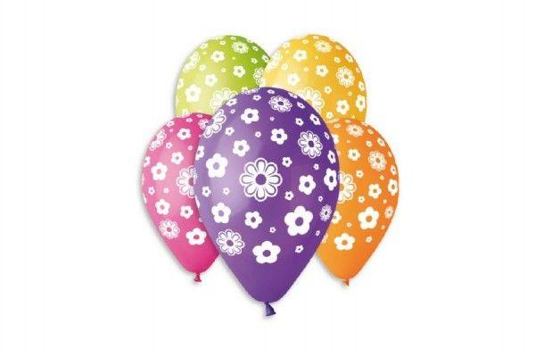 Balonek nafukovací květiny 12'' průměr 30cm 5ks v sáčku Smart Balloons