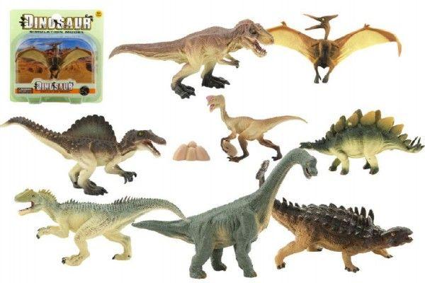 Dinosaurus plast 17cm asst 8 druhů na kartě