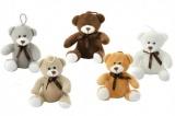 Medvěd s mašlí plyš 14cm asst 5 barev 0m+ Teddies
