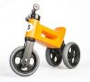Odrážedlo oranžové FUNNY WHEELS 2v1 výška sedadla nastavitelná 28/31cm nosnost 50kg 18m+ v krabici Teddies