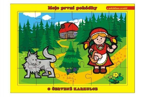Puzzle deskové O Červené Karkulce 26x17cm 24 dílků Moje první pohádky Teddies