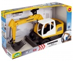 Auto Bagr Liebherr A918 Litronic plast 48cm 1:15 v krabici 3+ stavební stroj bagr Lena
