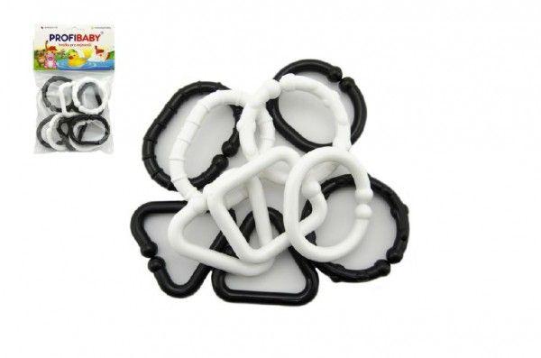 Plastové tvary černobílé 10 ks v sáčku Profibaby