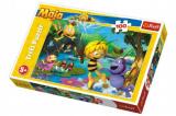 Puzzle Včelka Mája s přáteli 100 dílků 41x27,5cm v krabici 29x19x4cm