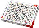 Puzzle 208 Kočiček 1000 dílků 68x48cm v krabici 40x27x6cm Trefl