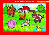 Puzzle deskové Moje první zvířátka farma 26x17cm 24 dílků MPZ Teddies