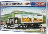 Stavebnice Monti 25 Intrans Container Western star 1:48 v krabici 31,5x16,5x7,5cm Beneš a Lát