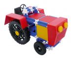 Stavebnice Seva Traktor plast 115ks v krabici 31,5x16,5x7,5cm Beneš a Lát