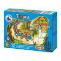 Kostky kubus Sněhurka dřevo 12ks v krabičce 16,5x12x4cm TOPA