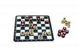 Magnetické cestovní šachy dřevo společenská hra v krabici 20x20x4cm Detoa