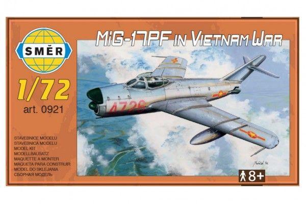 Model MiG-17PF in Vietnam War 1:72 13,3x16,2cm v krabici 25x14x4cm Směr