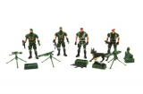 Sada vojáci 4ks s doplňky plast CZ design na kartě 18x19,5cm Teddies