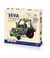 Stavebnice Seva Doprava Traktor plast 384 dílků v krabici 35x33x5cm