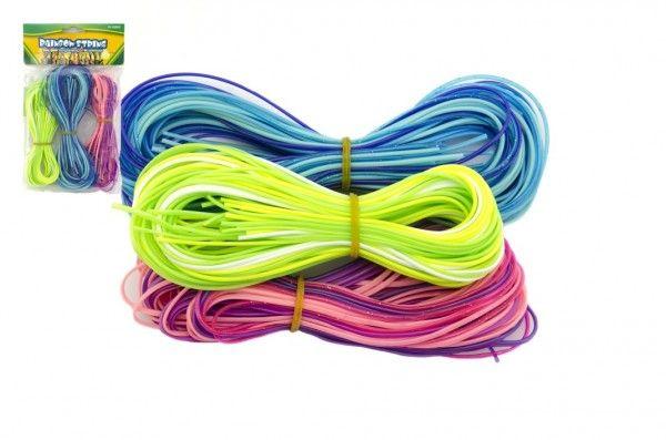 Zaplétací provázky bužírky plast asst 3 barvy v sáčku Teddies