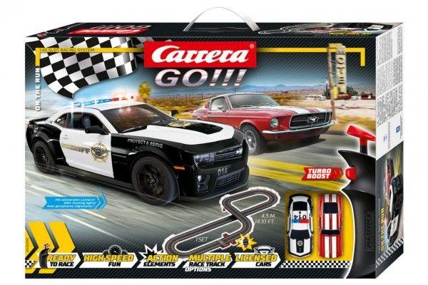 "Autodráha Carrera GO 62510 ""On the Run"" 4,3m v krabici 58x40x8cm Conquest"