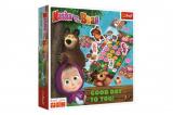 Máša a medvěd-Přeji hezký den společenská hra v krabici 24x24x5 Trefl