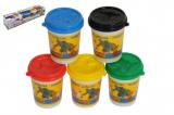 Modelína/Plastelína v kelímku 5ks mix barev v krabičce 40x8x8cm Teddies