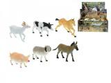 Zvířátka farma plast 14-17cm asst 6 druhů 36ks v boxu