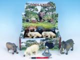 Zvířátka safari/ZOO plast 10-18cm asst 8 druhů 18ks v boxu