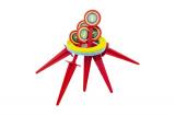 Hra házecí kroužky a kolíky plast 25cm v síťce Teddies