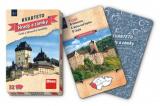 Kvarteto Hrady a zámky společenská hra karty 32ks v papírové krabičce 7x11x1cm Dino