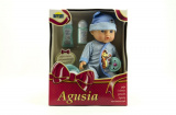 Panenka miminko Agusia plast 27cm pijící čůrající s doplňky asst 2 barvy v krabici Dromader