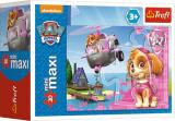 Puzzle 20miniMAXI-Záchranářská vozidla/Tlapková patrola asst 4 druhů v krabičce 11x8x4cm 24ks v boxu Trefl