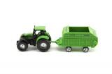 Traktor s přívěsem plast 16cm asst 6 druhů na kartě Teddies