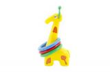 Žirafa plast 33cm s kroužky asst 3 barvy v sáčku od 18 měsíců Teddies