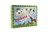 Zvířata 1 společenská hra na baterie v krabici 22x16x3cm Voltik toys