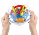 Hlavolam edukační koule 100 kroků plast 12cm v krabičce 12x12x12cm CZ design Teddies