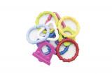 Řetěz plastové tvary 6cm 10ks v sáčku od 0 měsíců Profibaby