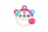 Tamburínka baby plast 12cm asst 2 barev na baterie se světlem se zvukem na kartě 18m+ Teddies