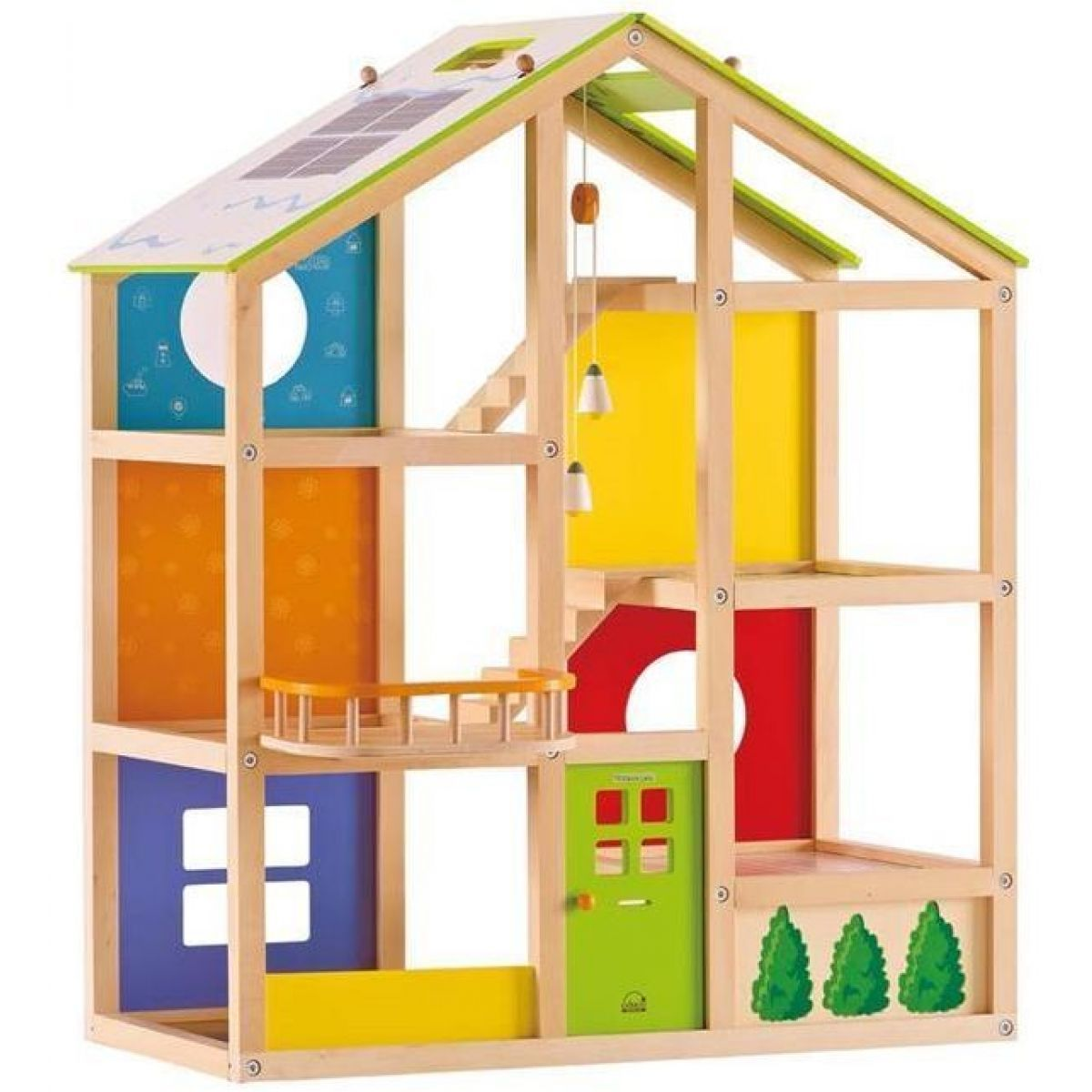 Domeček patrový dřevěný pro panenky Hape