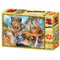 Puzzle 3D 100 dílků zvířátka, Afrika a podvodní svět Alltoys