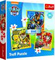 Puzzle 3v1 Tlapková patrola Marshall, Rubble a Chase
