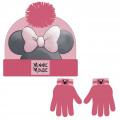 Sada rukavice, čepice s bambulí - Disney Minnie
