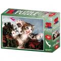 Puzzle 3D 100 dílků Kotě