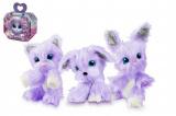 Zvířátko FUR BALLS plyš Touláček VIOLET pejsek/kočka/králík fialový s doplňky v krabici 24x20x10cm