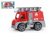 Auto Truxx hasiči plast 29cm s figurkou v krabici 39x22x16cm 24m+
