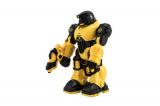 Robot bojovník chodící plast 23cm na baterie se zvukem se světlem v krabici 24x30x12cm Teddies