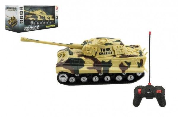 Tank RC plast 25cm na baterie se zvukem se světlem 2 druhy v krabici 28x13x12cm Teddies
