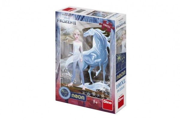 Puzzle XL Ledové království II/Frozen II svítící ve tmě 33x47cm 100 dílků v krabici 20x29,5x6cm Dino